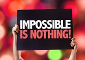 image of impossible  - Impossible is Nothing card with bokeh background - JPG