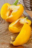stock photo of yellow-pepper  - Food preparation  - JPG