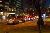 picture of heptagon  - Photo of bokeh street trafic lights as background - JPG