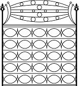 picture of wrought iron  - Wrought Iron Gate - JPG