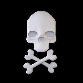 picture of skull crossbones flag  - The Three - JPG
