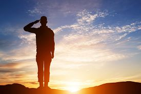 stock photo of army soldier  - Soldier salute - JPG