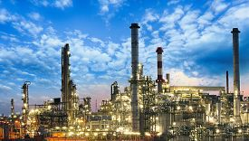 foto of gas-pipes  - Oil and gas industry  - JPG