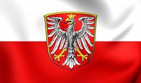 picture of frankfurt am main  - 3D Flag of Frankfurt am Main Germany - JPG