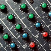 Colorful sound mixer. Texture design.