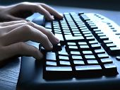 foto of qwerty  - keyboard closeup view - JPG