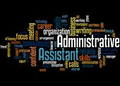 Administrative Assistant, Word Cloud Concept 4 poster