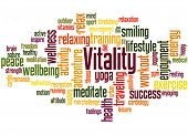 Vitality, Word Cloud Concept 4 poster