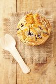 pic of bakeshop  - blueberry muffin in rustic style - JPG