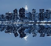 Midtown Manhattan skyline at Nights