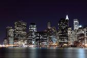 Постер, плакат: Манхэттен ночью Нью Йорк