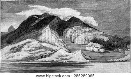 Mount Pelee on the island