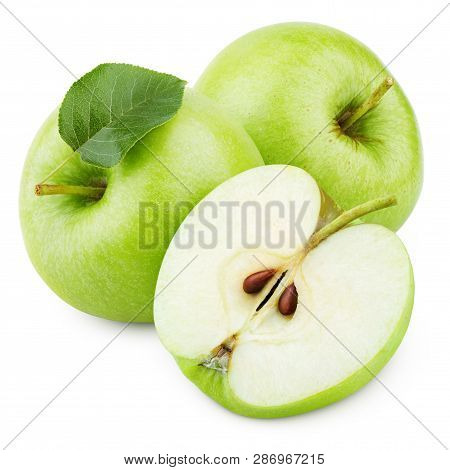 Group Of Ripe Green Apple