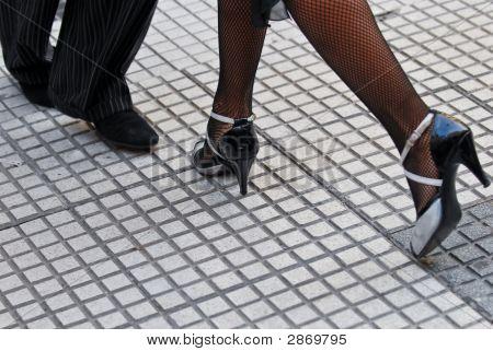 Постер, плакат: Танго обувь, холст на подрамнике