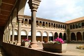 Elegant Buildings Around The Courtyard Of Santo Domingo Convent In Qoricancha, Archaeological Site I poster