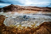 Krafla Geothermal Of Hverir, Namafjall In Iceland poster
