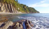 Kiselev Cliff Also Known As Cliff Of Tears, Tuapse, The Black Sea, Russia. The Cliff Towers 46 Meter poster
