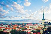 Aerial View Of Tallinn Old Town In A Beautiful Summer Day. Cityscape Skyline Of Tallinn Landmark, Es poster