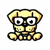 Dog Icon Isolated On White Background. Dog Icon In Trendy Design Style. Dog Vector Icon Modern And S poster