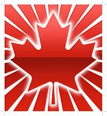 picture of canada maple leaf  - A red over sunburst maple Leaf illustration - JPG