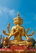 pic of brahma  - Big Brahma statue in Chonburi province of Thailand - JPG