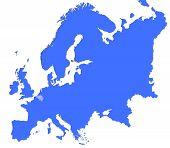 Belgium Location In Europe Map poster