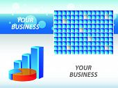 Business visit card with chart