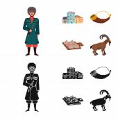 Isolated Object Of Culture And Sightseeing Icon. Collection Of Culture And Originality Stock Vector  poster