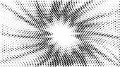 Halftone Gradient Explosion Pattern. Abstract Halftone Vector Dots Background. Fireworks Dots Patter poster