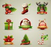 Christmas Icons/Objects Collection. Detailed vector illustration.