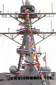 NEW YORK - OCT 6: The bridge with antenna mast and radars on the USS Michael Murphy (DDG 112) docked