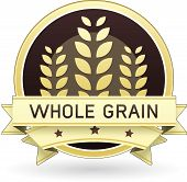 picture of whole-wheat  - Whole Grain packaging label or stick in vector - JPG