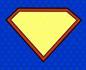 Super-Helden-Schild im Pop-Art-Stil