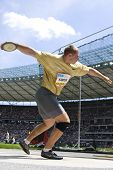 June 14 2009; Berlin Germany. Gerd Kanter (Est) competing in the discus at the DKB ISTAF 68 Internat