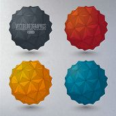picture of dodecahedron  - 3d geometric forms - JPG