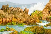 Waves Hitting The Rocks, Xuan Dai Bay, Phu Yen Province, Vietnam