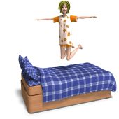 picture of bounce house  - 3D rendering of a young and sweet cartoon teen with clipping path and shadow over white - JPG