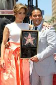 Jennifer Lopez with Benny Medina at the Jennifer Lopez Star on the Walk of Fame ceremony, Hollywood,