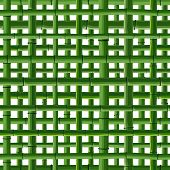 stock photo of stockade  - Seamless background of green bamboo square grid on white - JPG