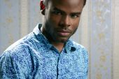 foto of african american hair styles  - African american young handsome man portrait at studio - JPG
