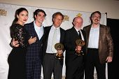 Jodi Lyn O'Keefe, RJ Mitte, Mark Johnson, Jonathan Banks and Vince Gilligan at the 39th Annual Satur