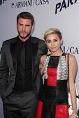 Liam Hemsworth and Miley Cyrus at the