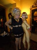 Lady Bear and Rena Riffel at the Peaches Christ SHOWGIRLS Night of 1000 Showgirls Event featuring Re