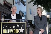 Christopher Guest and Jane Lynch at the Jane Lynch Star on the Hollywood Walk of Fame Ceremony, Holl