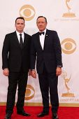 Kevin Spacey and Dana Brunetti at the 65th Annual Primetime Emmy Awards Arrivals, Nokia Theater, Los