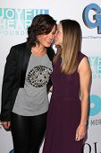 Mariska Hargitay and Hilary Swank at the Joyful Heart Foundation celebrates the No More PSA Launch,