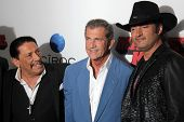 Danny Trejo, Mel Gibson and Robert Rodriguez at the