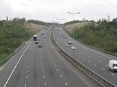 image of m60  - A picture of the M60 Motorway taken from a footbridge near Daisy  Nook in Ashton - JPG