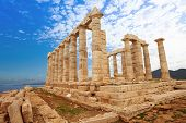 pic of poseidon  - Temple of Poseidon on cape Sounion - JPG