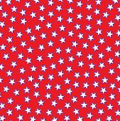 foto of pop star  - small white stars outlined in blue on a red background - JPG